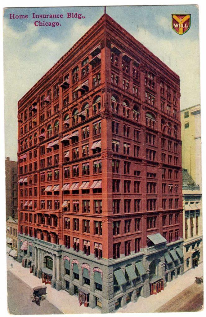 HOME INSURANCE BUILDING. WILLIAM LE BARON JENNEY