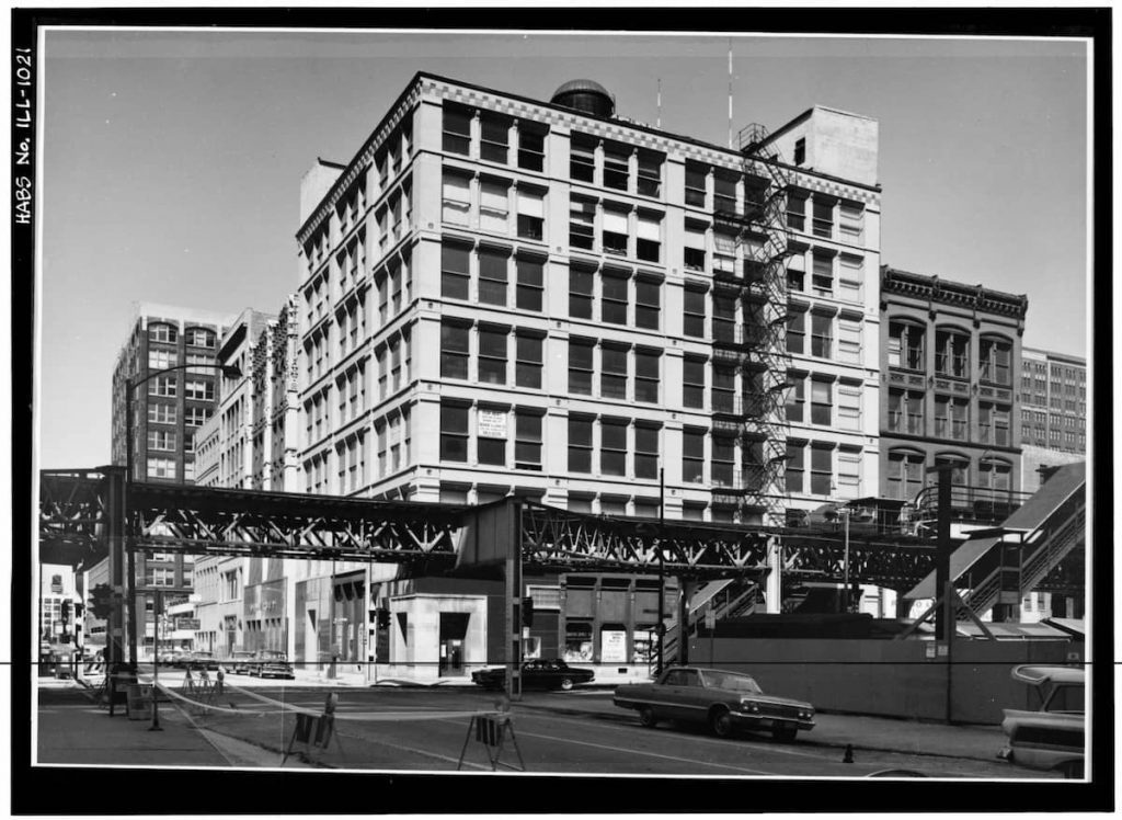 FIRST LEITER BUILDING. WILLIAM LE BARON JENNEY