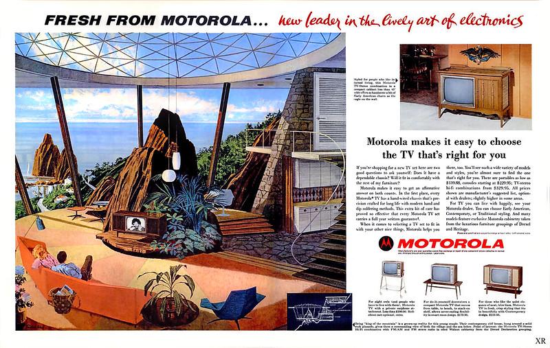 ANUNCIO MOTOROLA MID-CENTURY MODERN