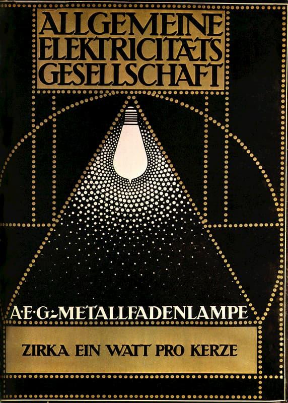 CARTEL PUBLICITARIO AEG, PETER BEHRENS