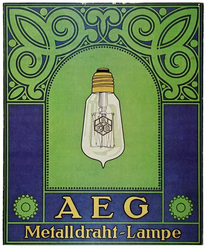 CARTEL PUBLICITARIO AEG PETER BEHRENS