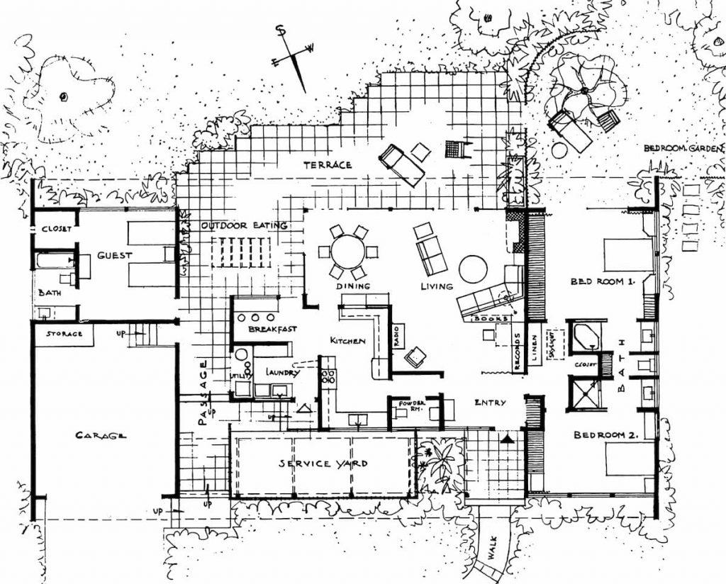 CASE STUDY HOUSE 1 PLANTA