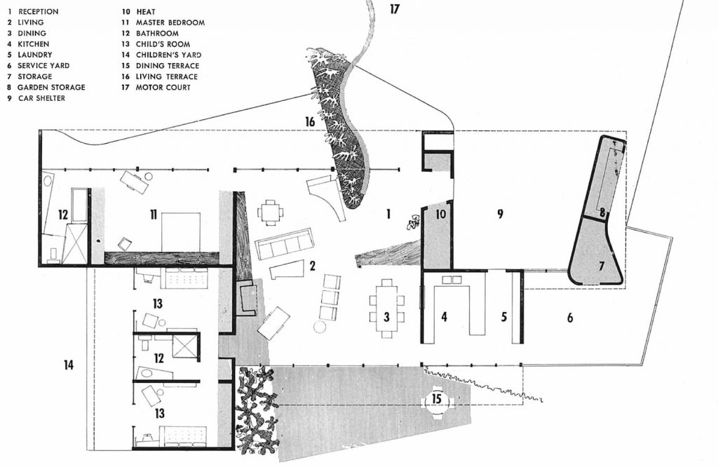 PLANTA VERSIÓN 2 CASE STUDY HOUSE 2 SPAULDING REX