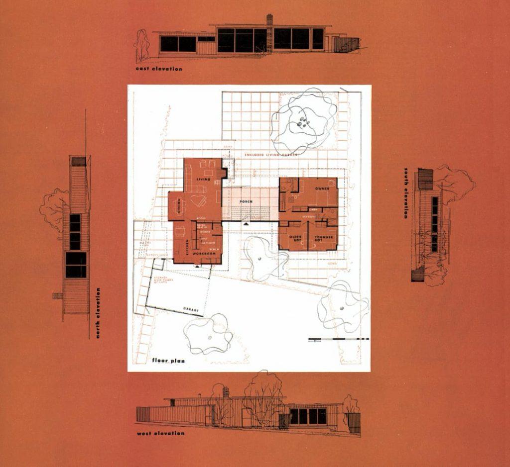 PLANTA Y ALZADOS CASE STUDY HOUSE 3