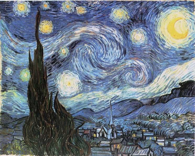 Pigmento azul de Prusia en La noche estrellada de Vincent Van Gogh
