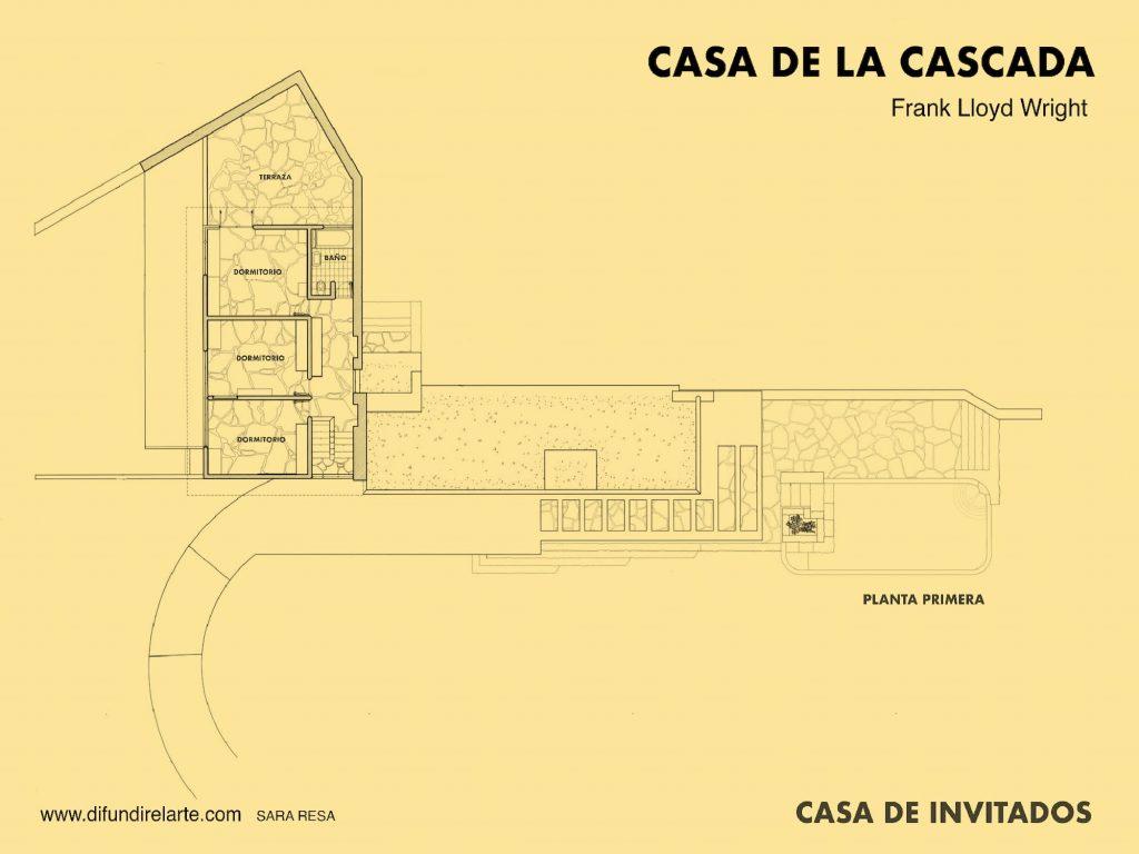 PLANTA PRIMERA CASA INVITADOS CASA DE LA CASCADA